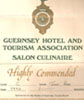Guernsey Hotel and Tourism Association Salon Culinaire 1990 Recommendation.